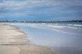 The Atlantic Ocean, in Hampton Beach, New Hampshire. Royalty Free Stock Photo