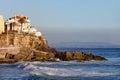 Atlantic ocean rocky coast in estoril of the portugal Stock Photography
