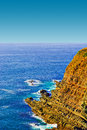 Atlantic ocean rocky coast of in portugal Stock Photo