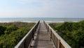 Atlantic Ocean view over a boardwalk Royalty Free Stock Photo