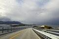 Atlantic road in northern norway Royalty Free Stock Images