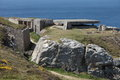 Atlantic wall at pointe de pen hir in brittany france fortifications built by the germans during the second world war to repel an Stock Image