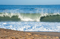 Atlantic waves ocean beautiful on a sunny day Royalty Free Stock Photography