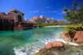 Atlantis hotel in bahamas on paradise island nassau Stock Photo