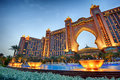 Atlantis the palm dubai night scene of Royalty Free Stock Photos