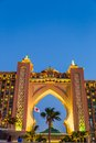 Atlantis the palm hotel in dubai united arab emirates uae november on november uae is a luxury star built on an artificial island Stock Photography