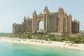 Atlantis, The Palm Hotel the View From Monorail, Dubai Royalty Free Stock Photo