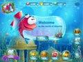 Atlantis ruins with fish rocket - menu GUI Royalty Free Stock Photo