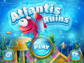 Atlantis ruins with fish rocket - vector illustration boot scree Royalty Free Stock Photo
