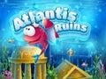 Atlantis ruins funny fish - vector illustration boot screen Royalty Free Stock Photo