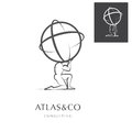 ATLAS, CORPORATE LOGO DESIGN Royalty Free Stock Photo