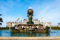 Atlas fountain at castle howard north yorkshire uk united kingdom october is a famous stately home for brideshead remake being Royalty Free Stock Photography
