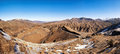 Atlas mountains covered with snow morocco panorama Royalty Free Stock Photography