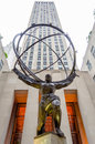Atlas statue in rockefeller center new york circa may the historic the new york circa may it stands for power the fifth ave Royalty Free Stock Photos