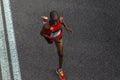 Atleta runners comrades marathon Fotografia Stock