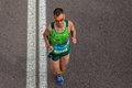 Atleta runners comrades marathon Fotografía de archivo libre de regalías