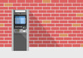 ATM machine in bank or office