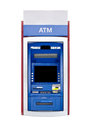 Atm machine isolated on white Royalty Free Stock Images