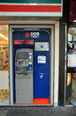Atm of united overseas bank uob in singapore april one the largest banks south east asia Royalty Free Stock Photography