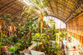 Atocha madrid spain march tropical green house location in th century railway station in march in madrid spain Royalty Free Stock Photo