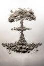 Atom Bomb Mushroom Cloud Made Of Ash