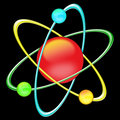 Atom color - black background Stock Image