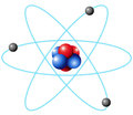 Atom diagram in large scale Royalty Free Stock Photo