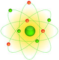 Atom and the electrons around Stock Photos