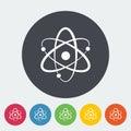 Atom icon Royalty Free Stock Photo
