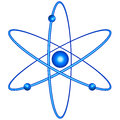 Atom icon for various design Royalty Free Stock Image