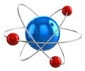 Atom model Royalty Free Stock Image