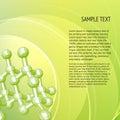 Atom, molecule. Royalty Free Stock Images