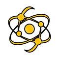 Atom molecule isolated icon