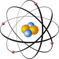 Atom nucleus Stock Photo