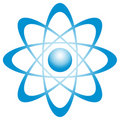 Atom with orbit Royalty Free Stock Images