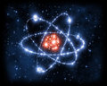 Atom space science Royalty Free Stock Image