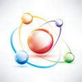 Atom structure abstract glossy icon science and energy concept Royalty Free Stock Photo