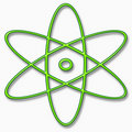 Atom symbol Royalty Free Stock Images