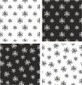 Atom Symbol or Atom Sign Big & Small Aligned & Random Seamless Pattern Set Royalty Free Stock Photo