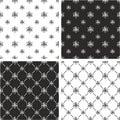 Atom Symbol or Atom Sign Big & Small Seamless Pattern Set Royalty Free Stock Photo