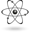 Atom symbol nuclear energy sign vector illustration Stock Photos
