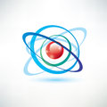 Atom symbol Royalty Free Stock Photo