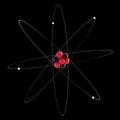 Atom visualisation d illustration of an on black Stock Images