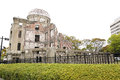 Atomic bomb a bomb dome the hiroshima japan Stock Photography