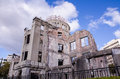 Atomic Bomb Dome, the building was attack by atomic bomb in worl Royalty Free Stock Photography