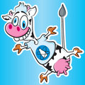 Atomic Cow Stock Image