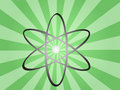 Atomic symbol Royalty Free Stock Photo