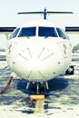 ATR 42 nose Stock Photo