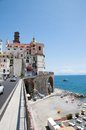 Atrani amalfi coast italy panoramic view of in the Royalty Free Stock Photo