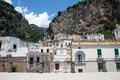Atrani amalfi coast italy panoramic view of in the Stock Photos
